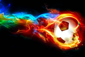 Ball in Flames Wallpaper