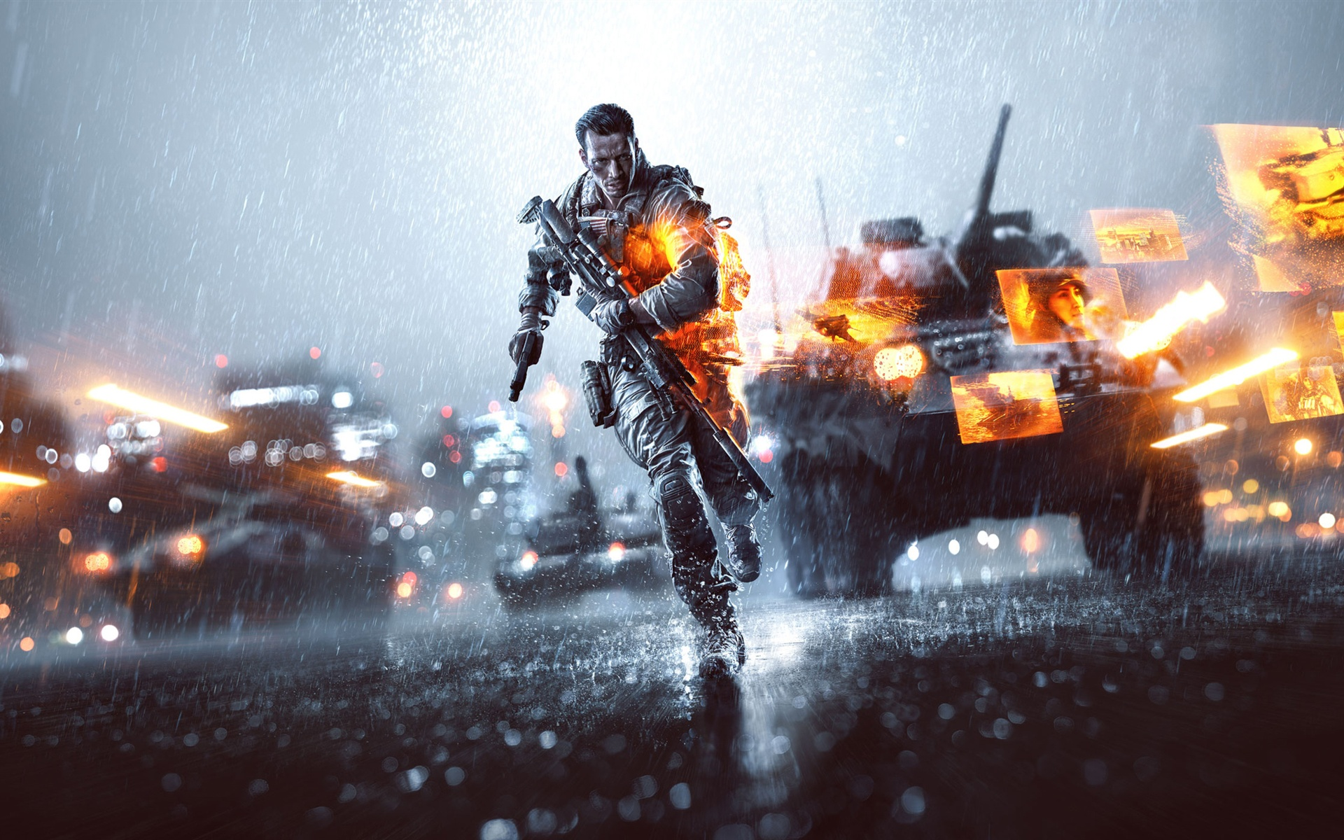 Download free HD Battlefield 4 The Rainy Day Night City, image