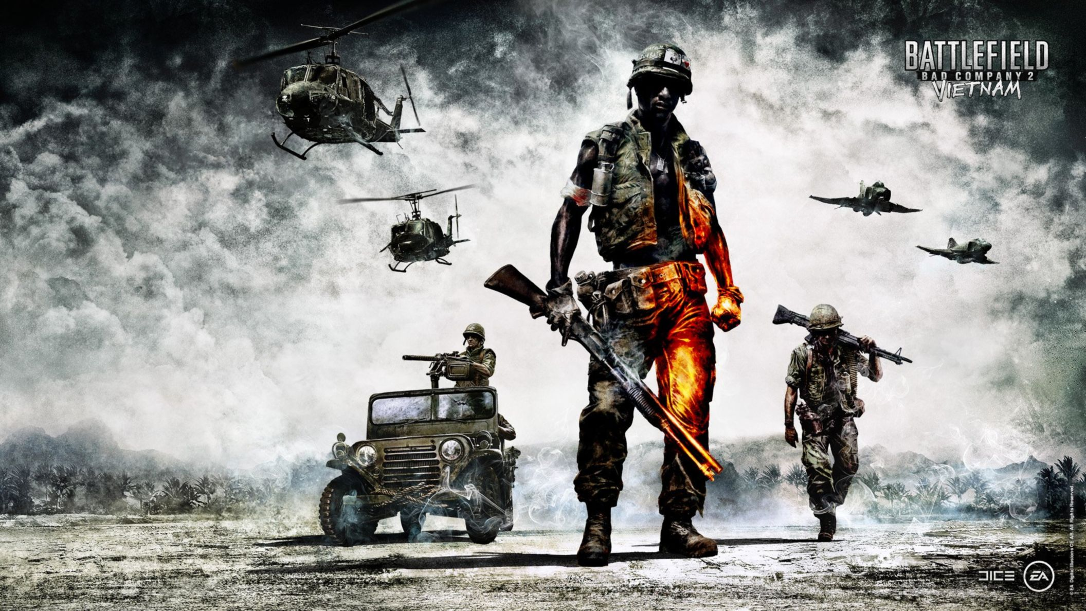 Download free HD Battlefield Bad Company 2 Vietnam HD Wallpaper, image