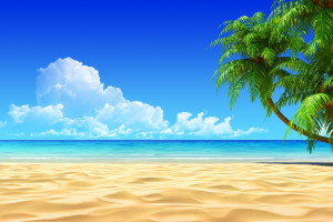Beach 3d Art Wallpaper
