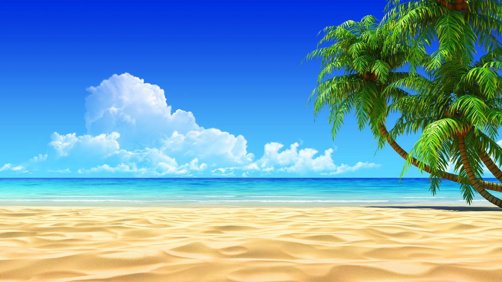 Download free HD Beach 3d Art Wallpaper, image