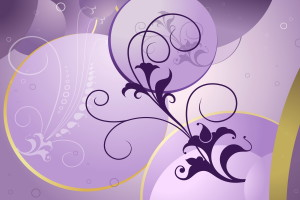 Beautiful Flower Purple Abstract Art  Wallpaper