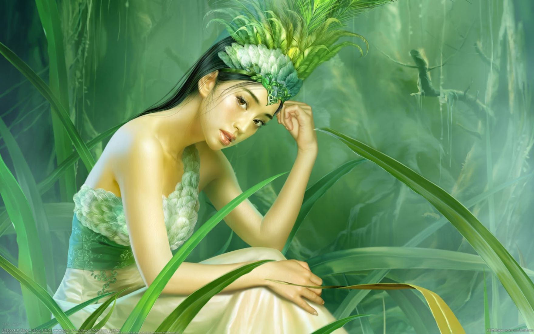 Download free HD Beautiful Girl Animated Art Pictures Wallpaper, image
