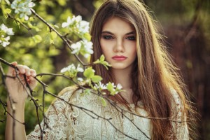 Download Beautiful Girl Holding Branch Wallpaper Free Wallpaper on dailyhdwallpaper.com