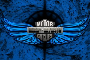 Best Blue Harley Logo Wallpaper