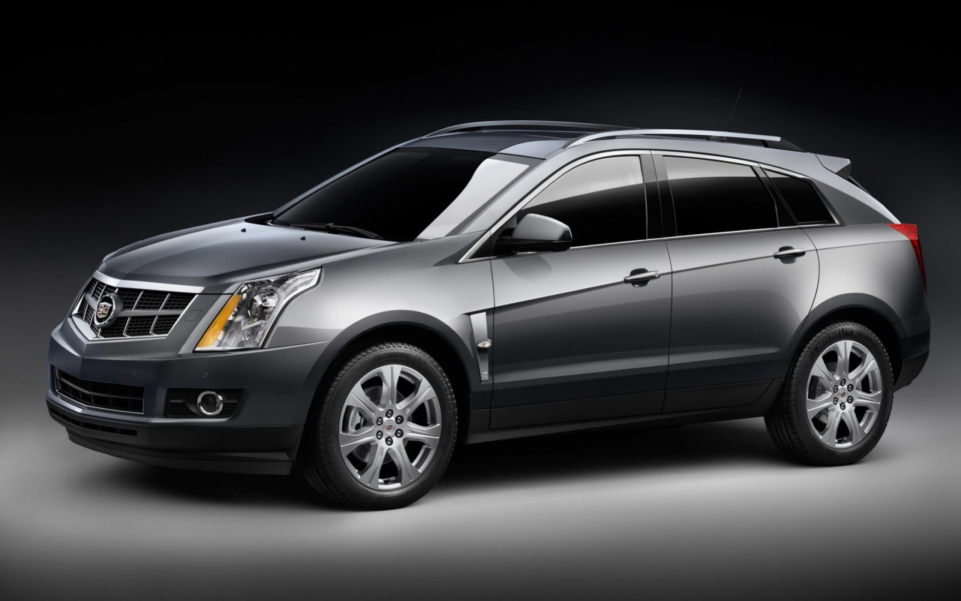 Black Cadillac SRX Crossover Suvcar Wallpaper