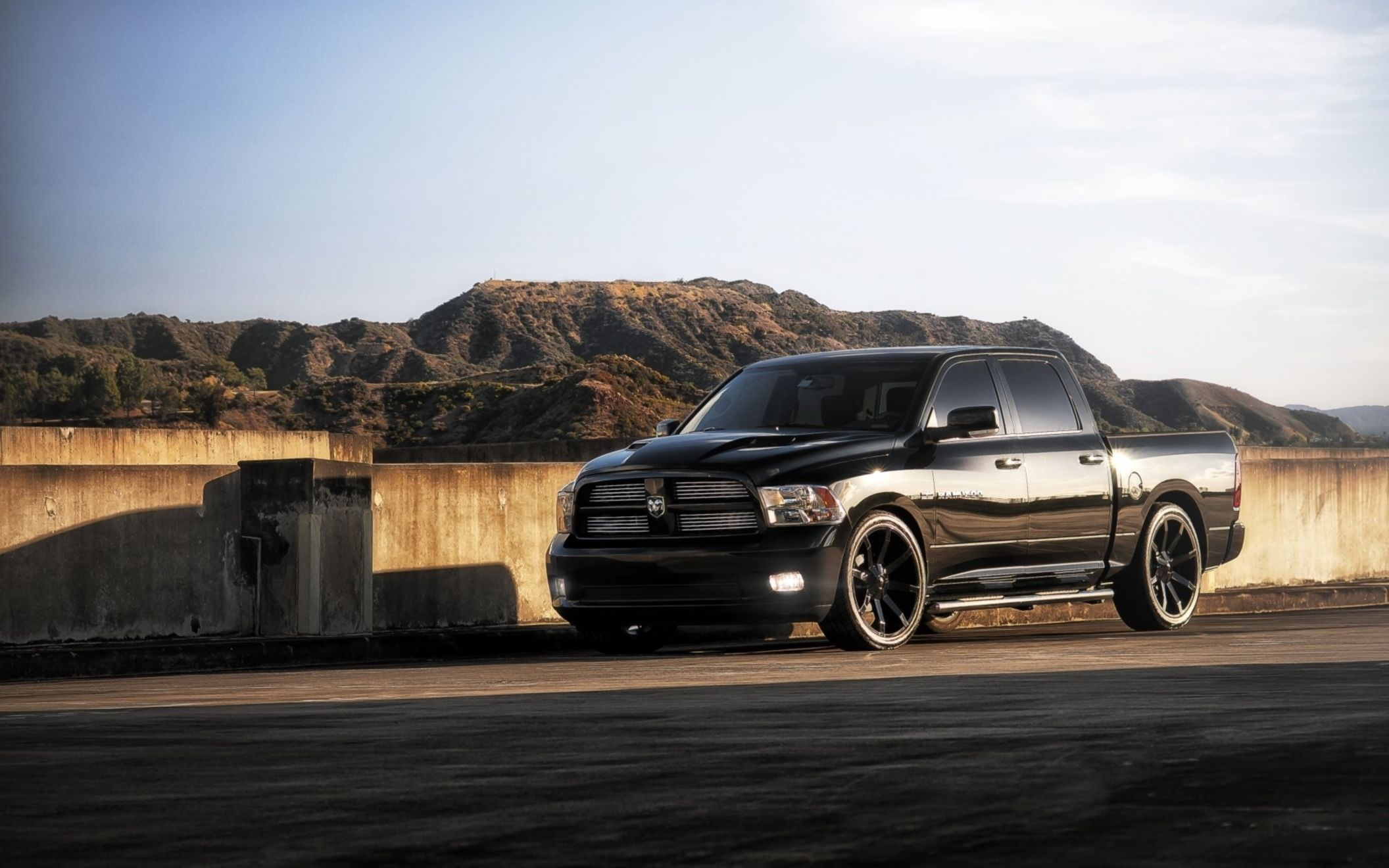 Download free HD Black Dodge Pickup Trucks 2014 Wallpaper, image