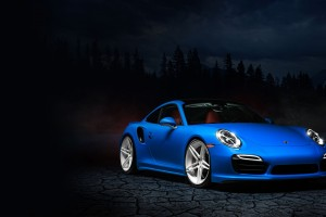 Blue Porsche 991 HD Wallpaper