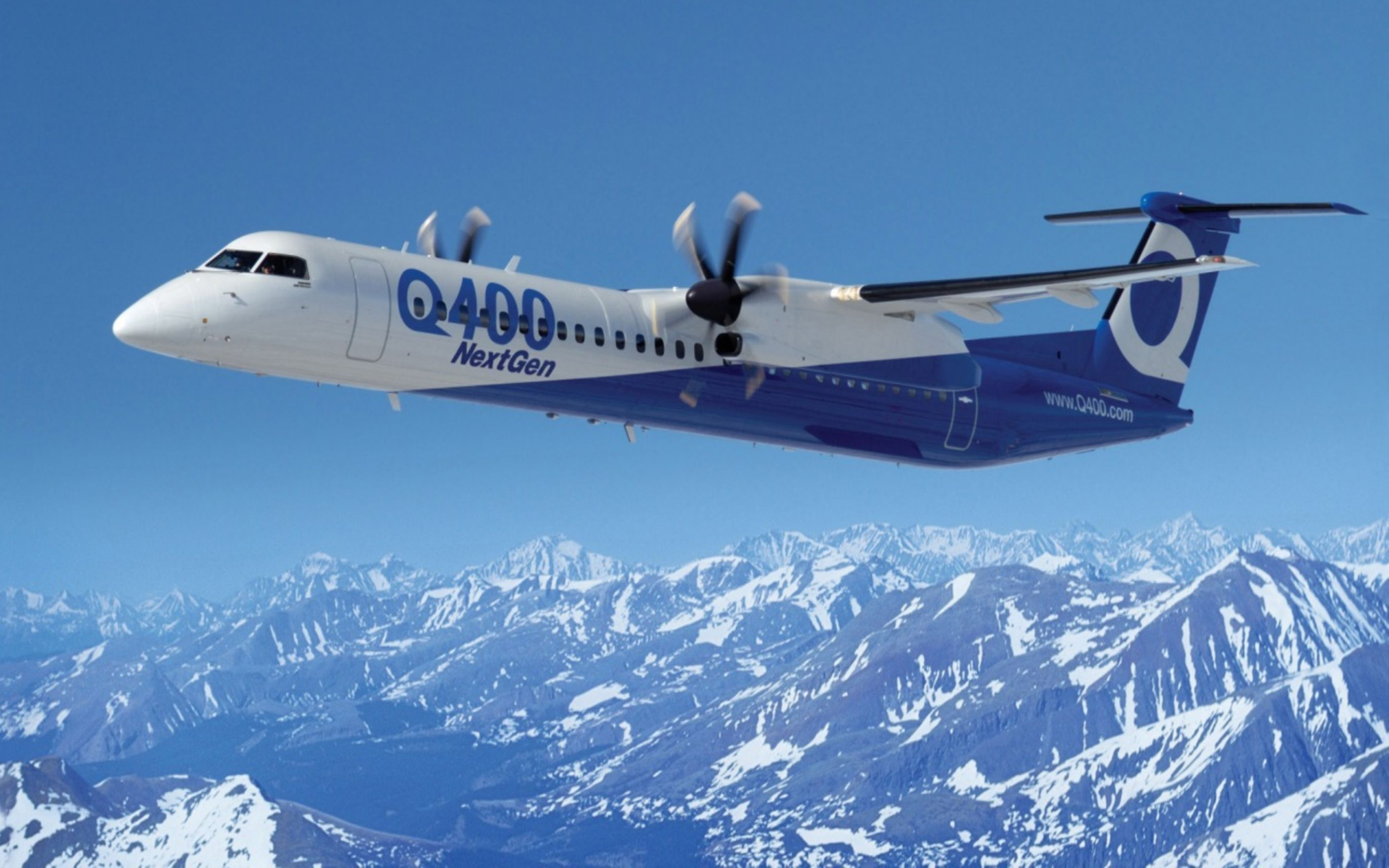 Download free HD Bombardier Q400 Next Gen Wallpaper, image