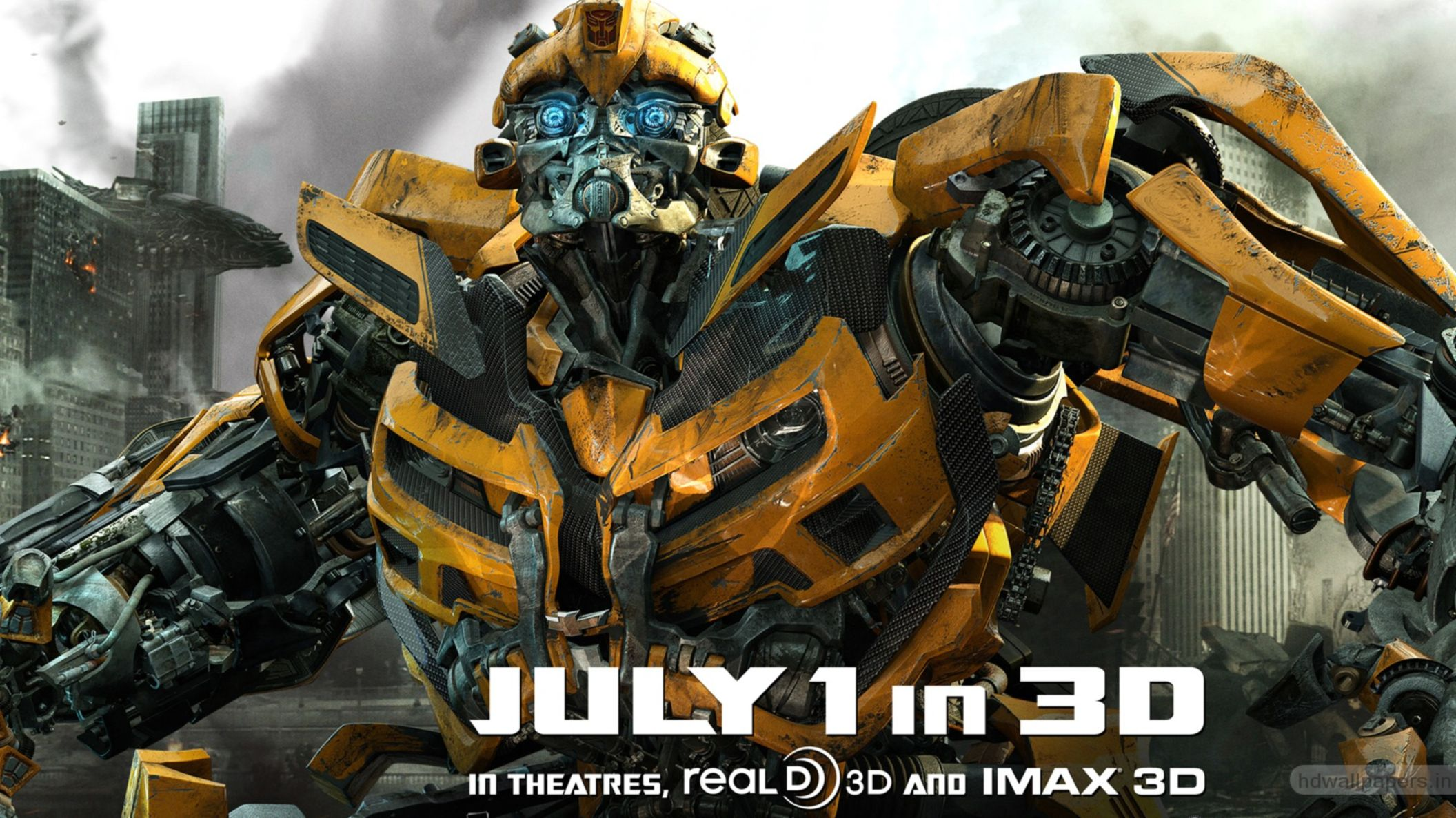Download free HD Bumblebee In New Transformers 3 HD Wallpaper, image