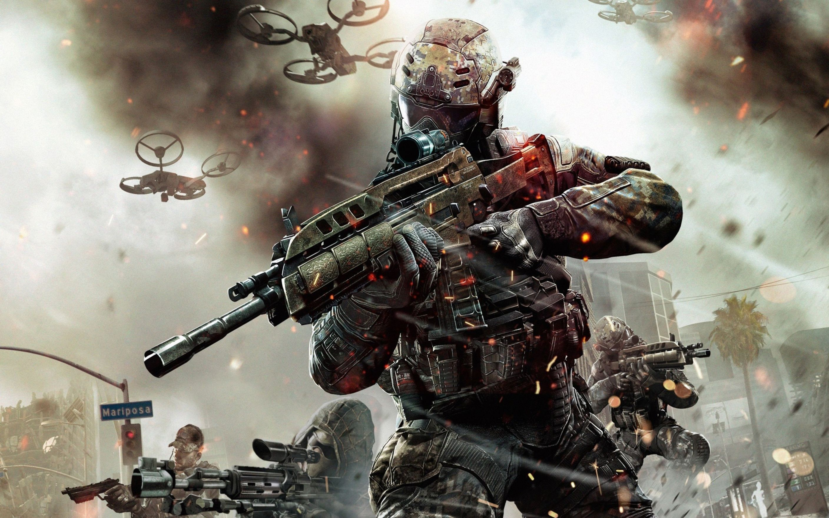 Download free HD Call Of Duty Black Ops 2 Game 2013 Wide Wallpaper, image
