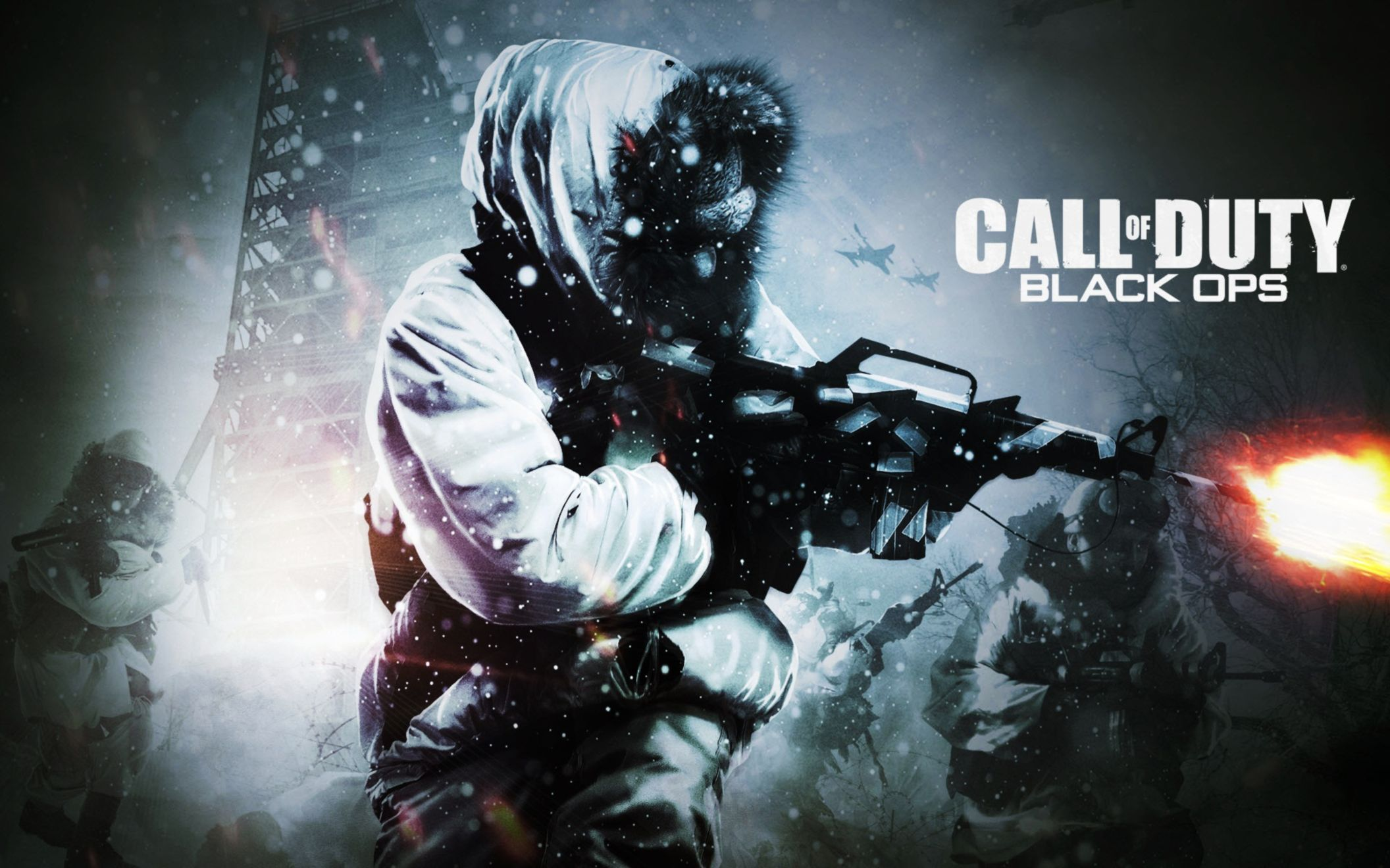 Download free HD Call of Duy Black Ops 2010 Wide Wallpaper, image