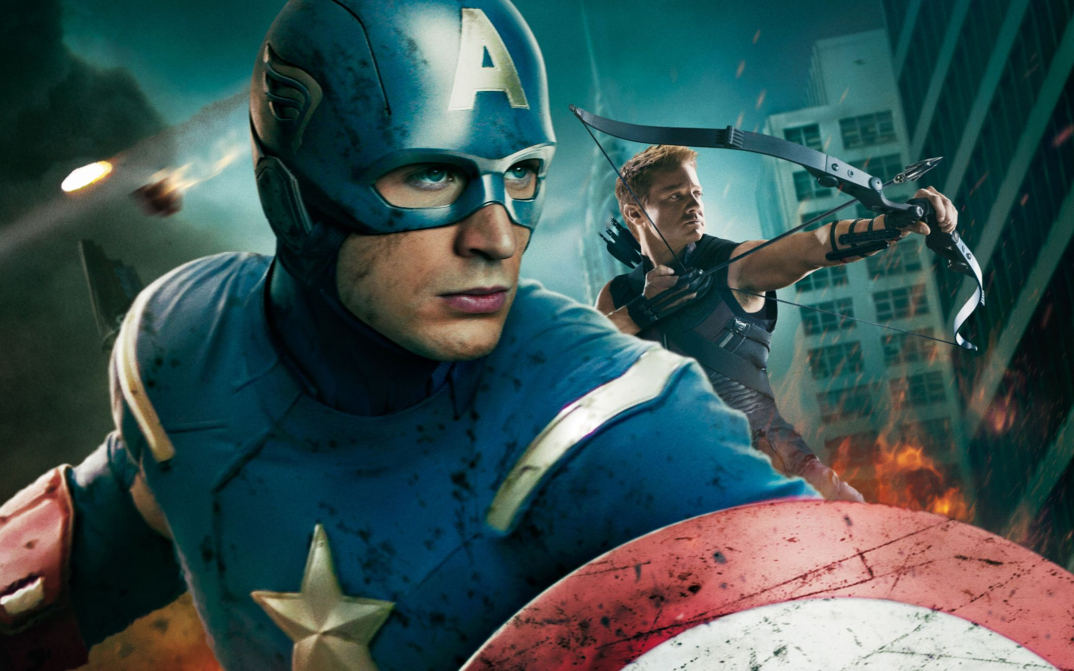 Download free HD Captain America In Avengers Movie Wide Wallpaper, image