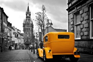 Car Vintage Retro City Wallpaper
