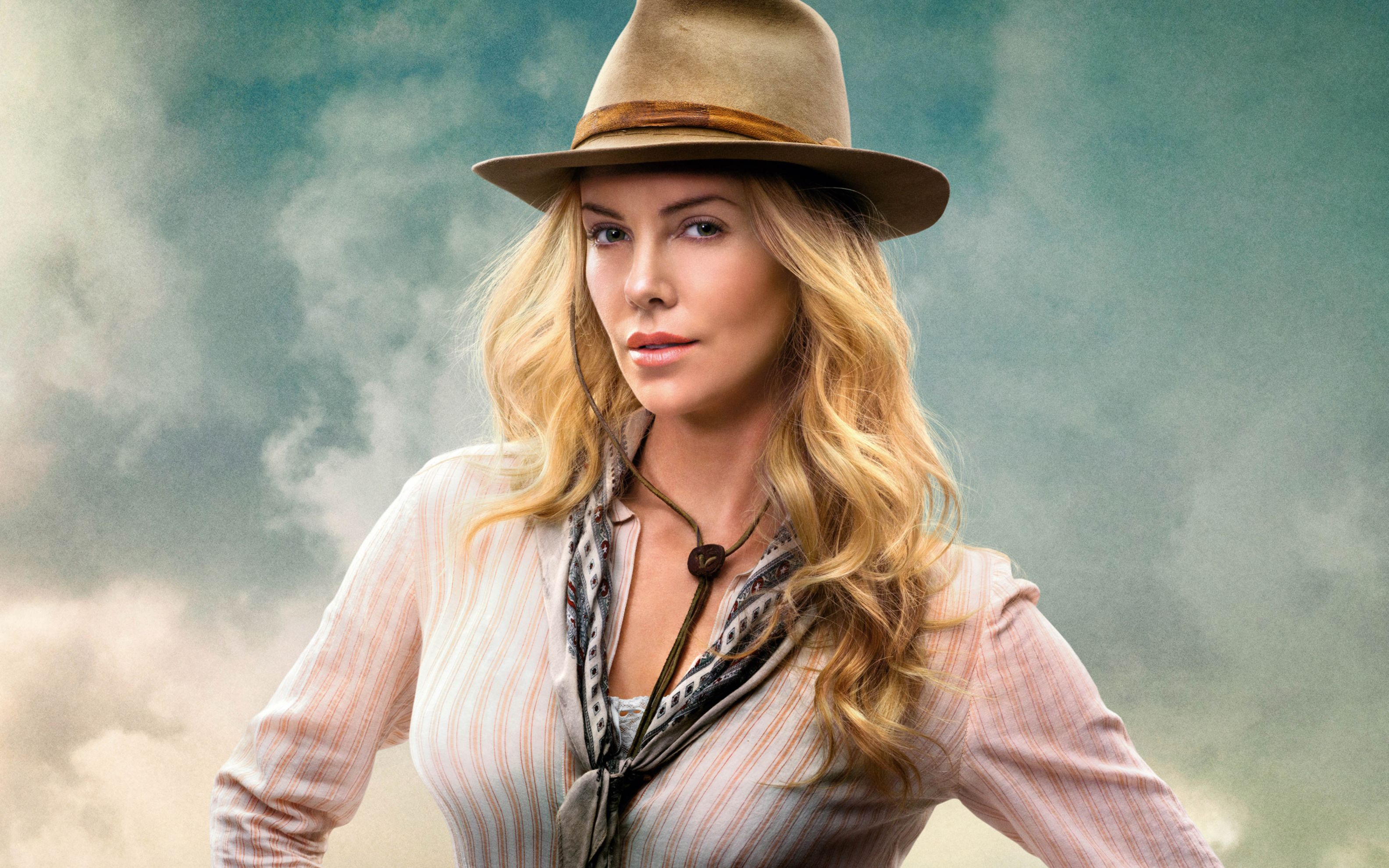 Download free HD Charlize Theron in A Million Ways To Die in The West Wide Wallpaper, image