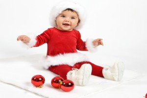 Children In Red Santa Dress Wallpaper