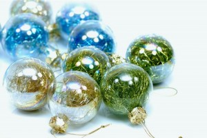 Christmas Balls Blue And Green Wallpaper