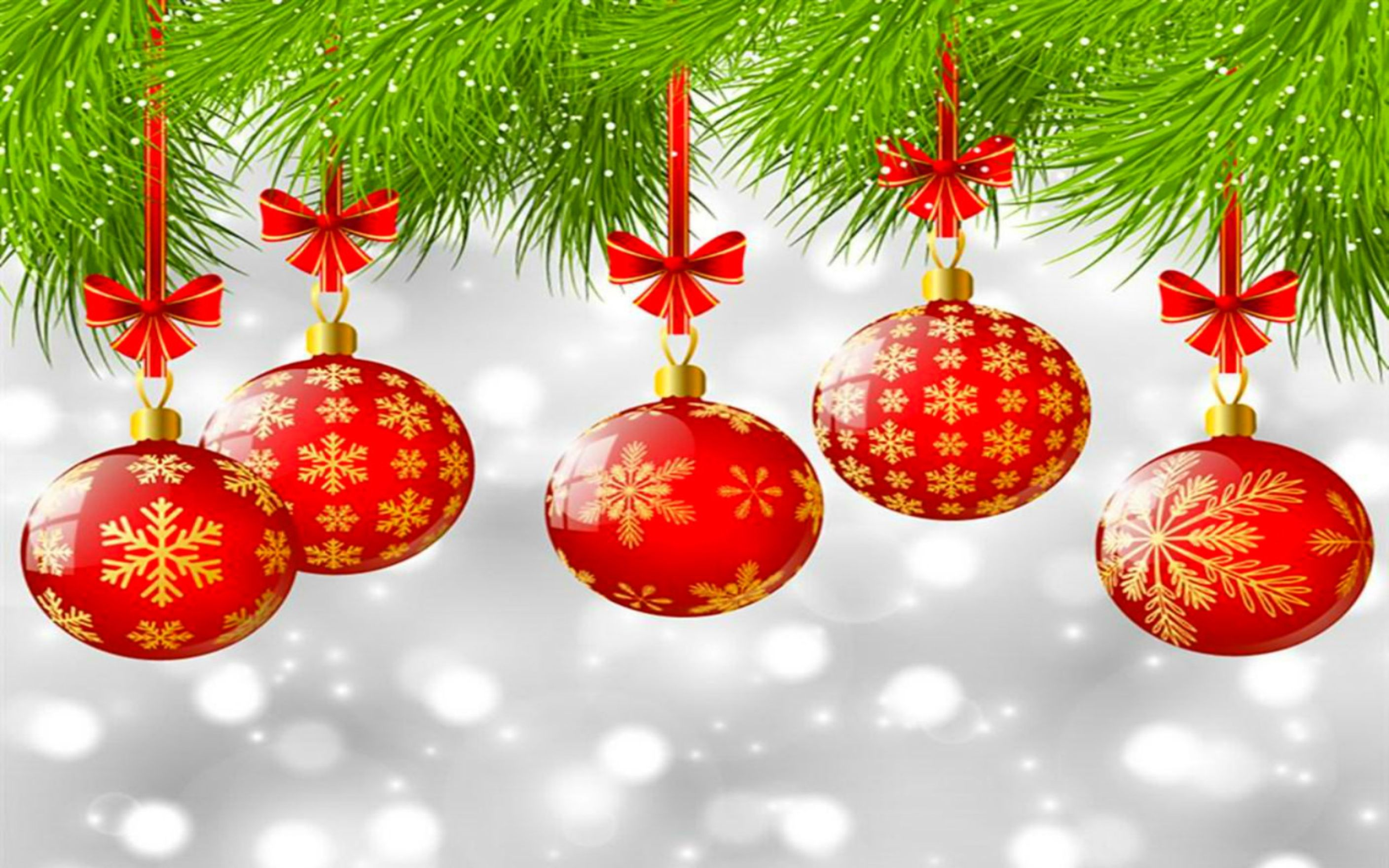 Download free HD Christmas Ornaments Red Wallpaper, image