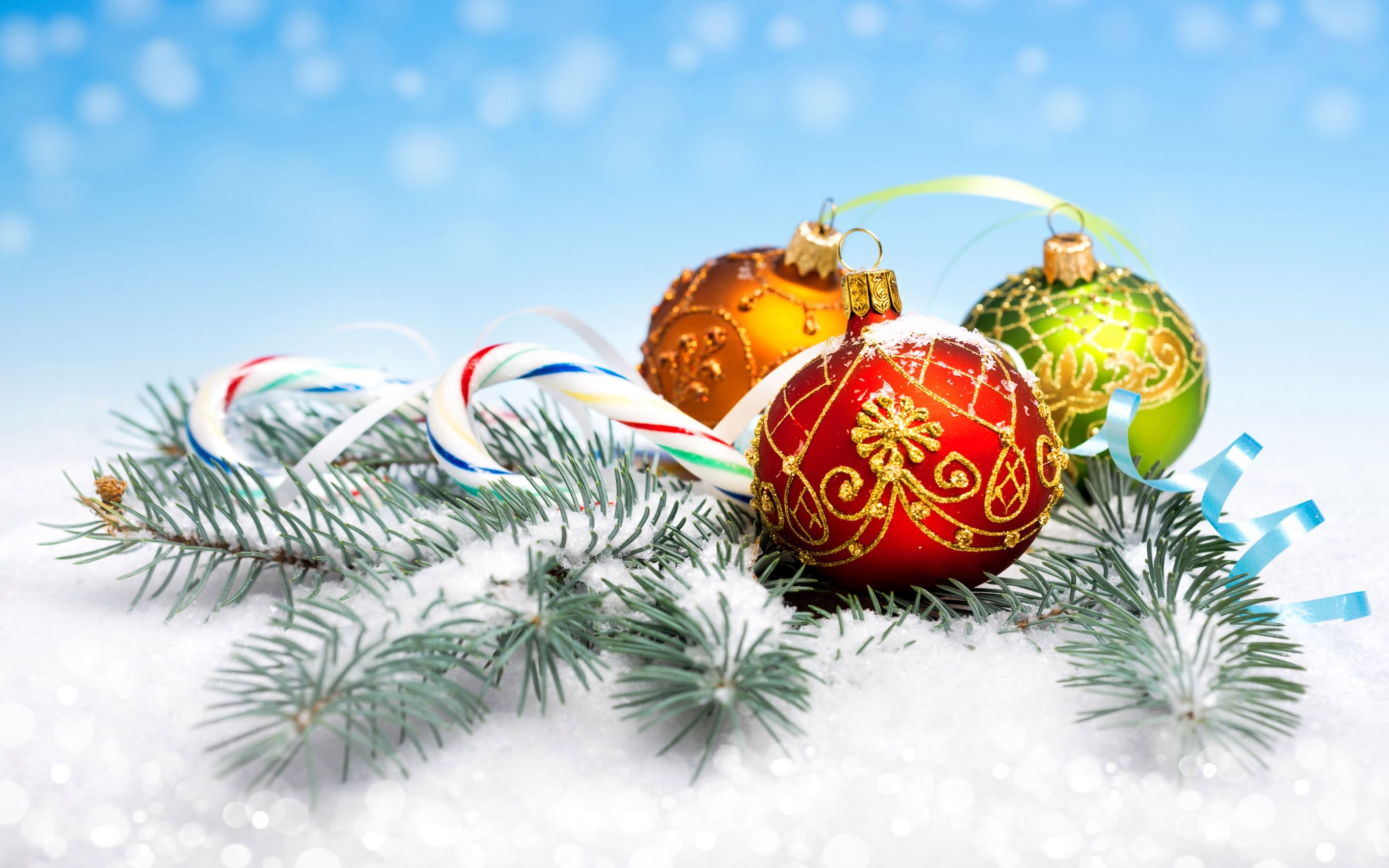 Download free HD Christmas Ornaments Wallpaper, image