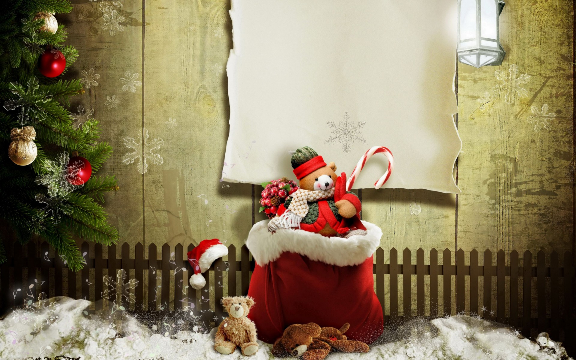 Christmas Presents Gifts Wide Wallpaper