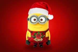 Christmas Santa Minion Wide Wallpaper