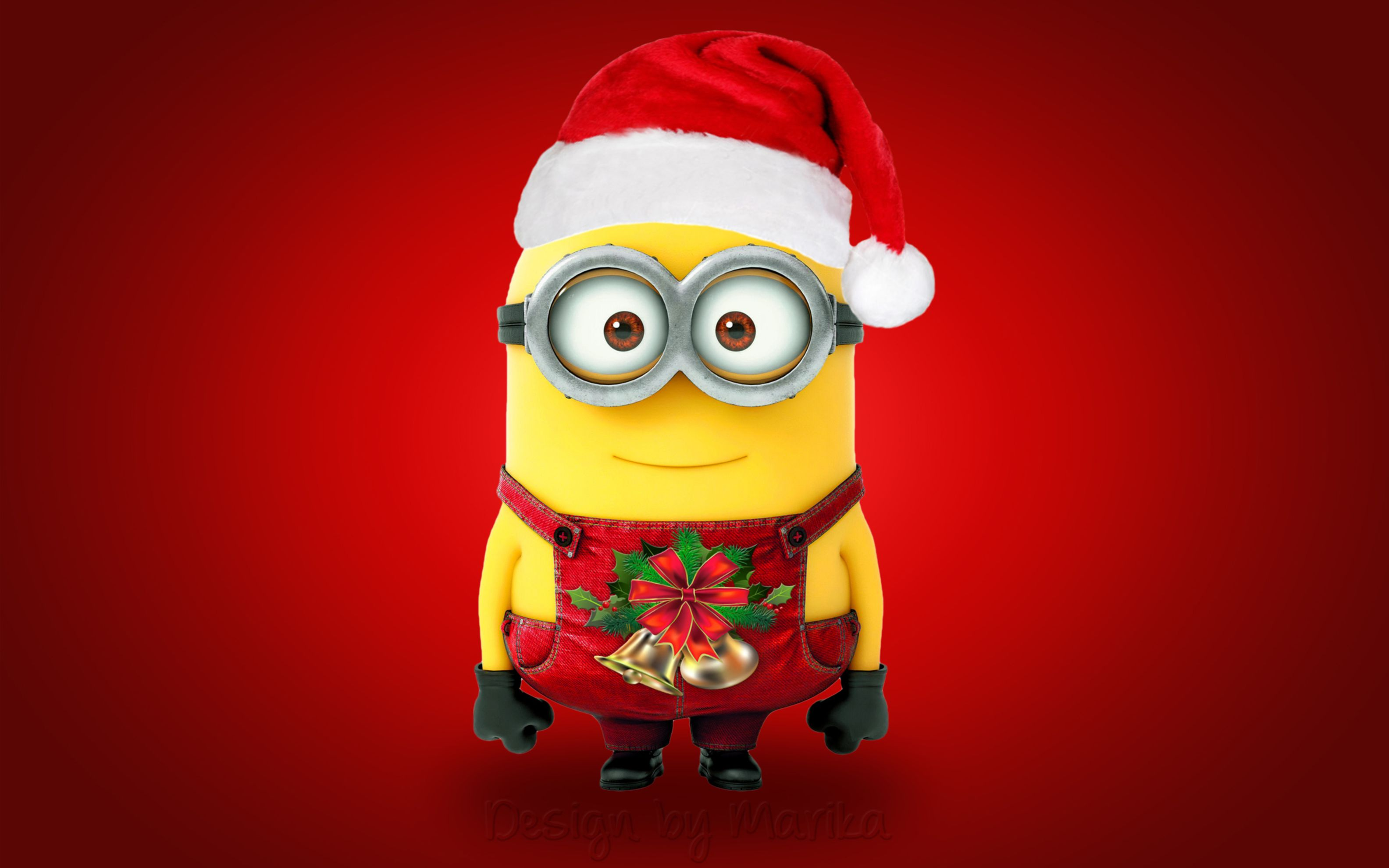Download free HD Christmas Santa Minion Wide Wallpaper, image
