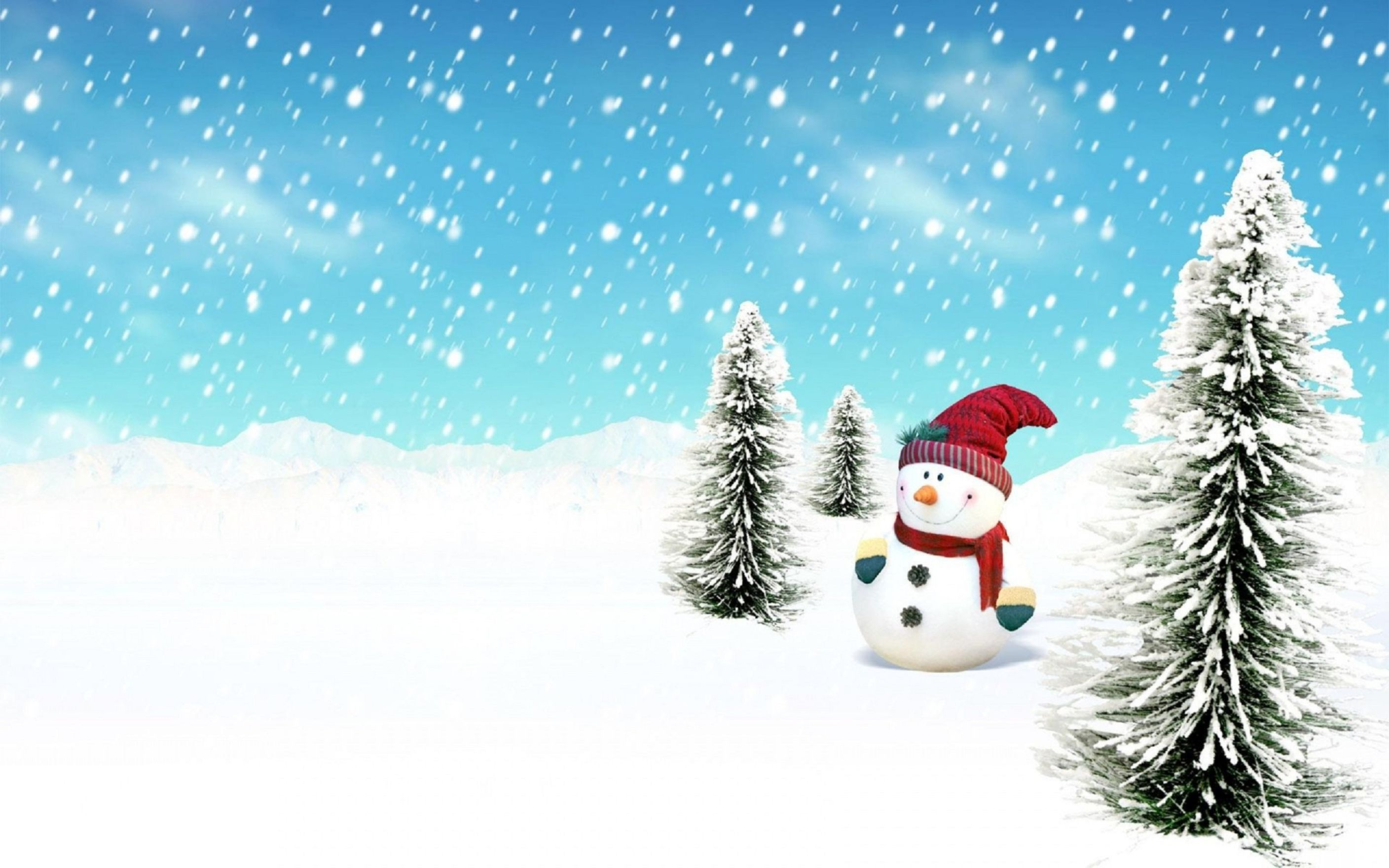 Download free HD Christmas Snowman Image Wallpaper, image
