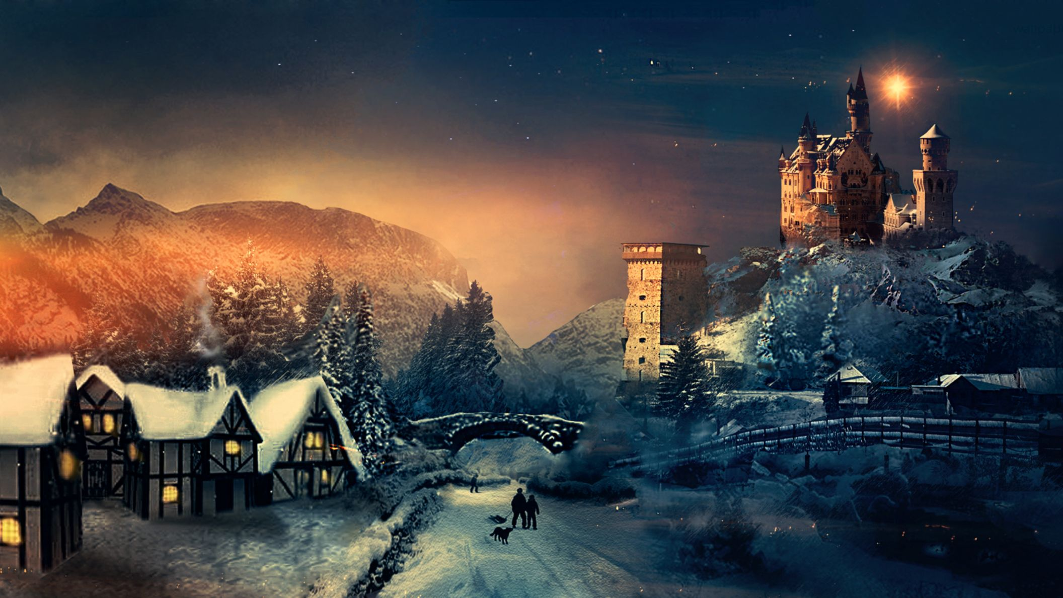 Download free HD Christmas Winter HD Wallpaper, image