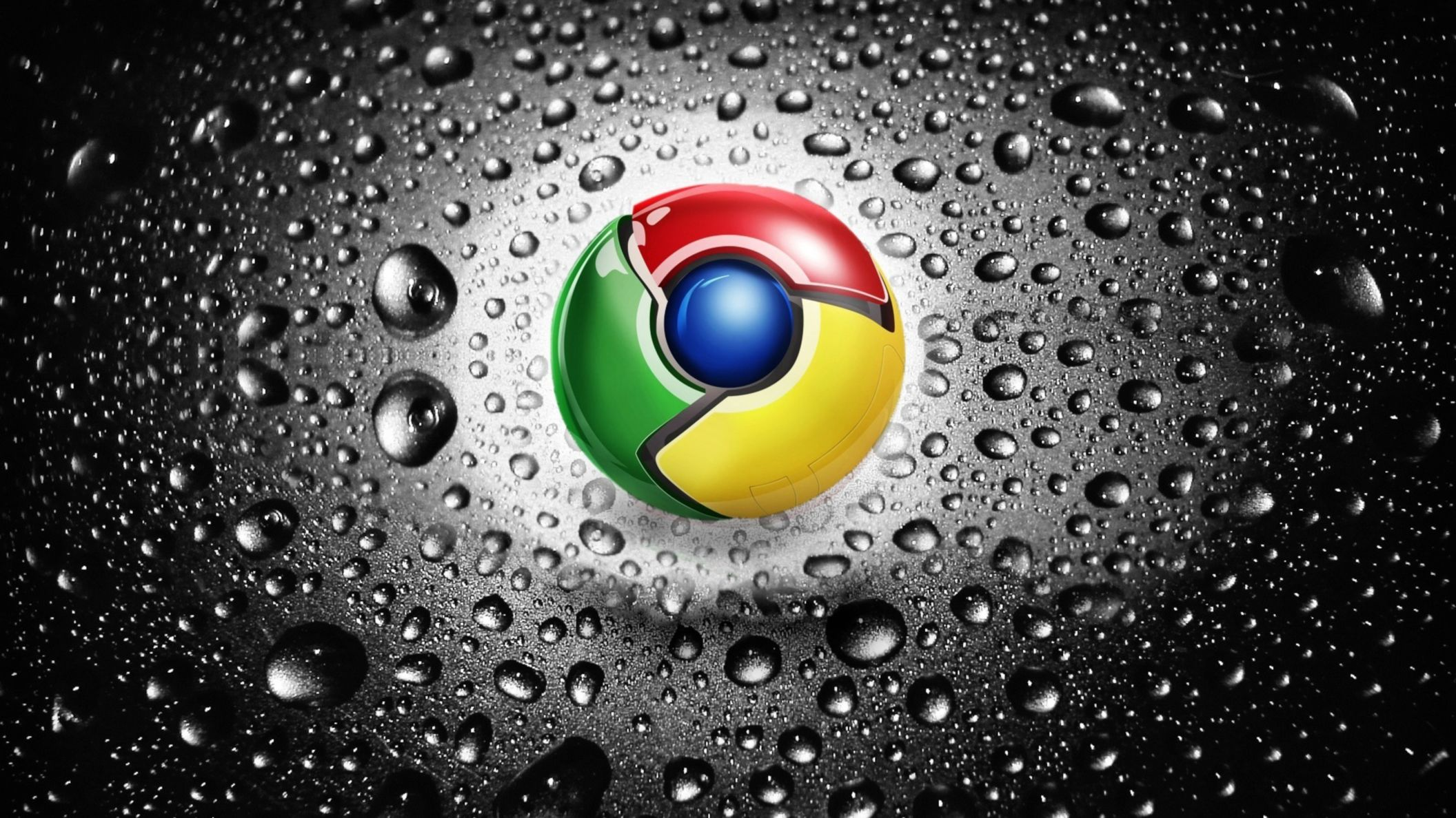 Download free HD Chrome Water Art Wallpaper, image