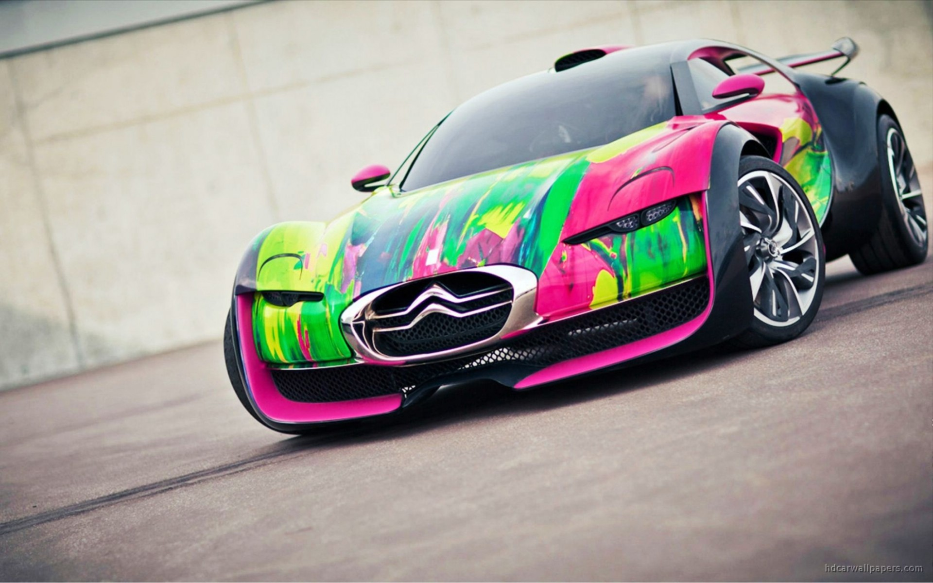Citroen Survolt Concept Car Wide Wallpaper