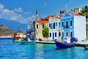 City Port Street Blue Sea Photo Wallpaper
