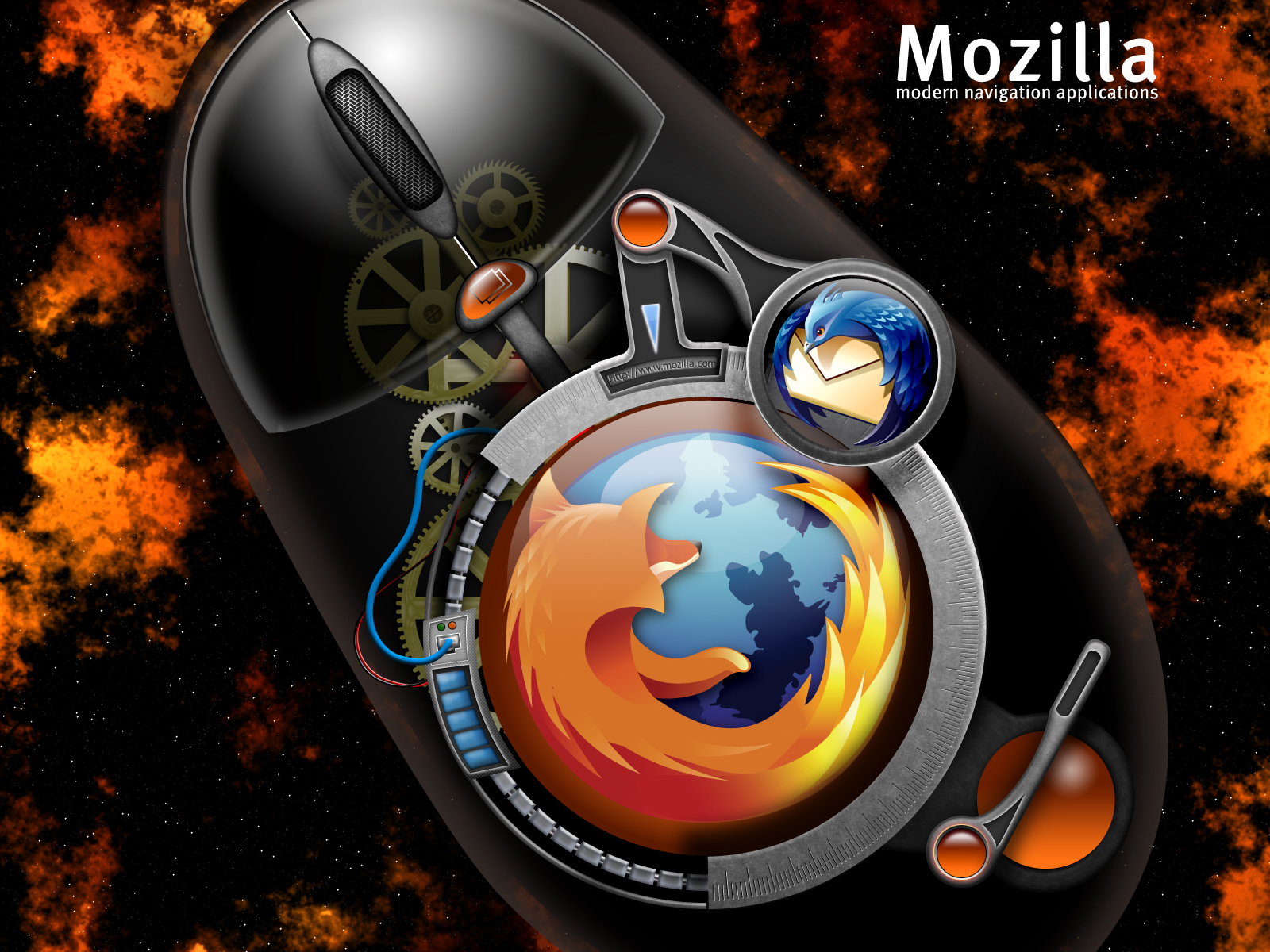 Download free HD Cool 3D Mozilla Firefox Wallpaper, image