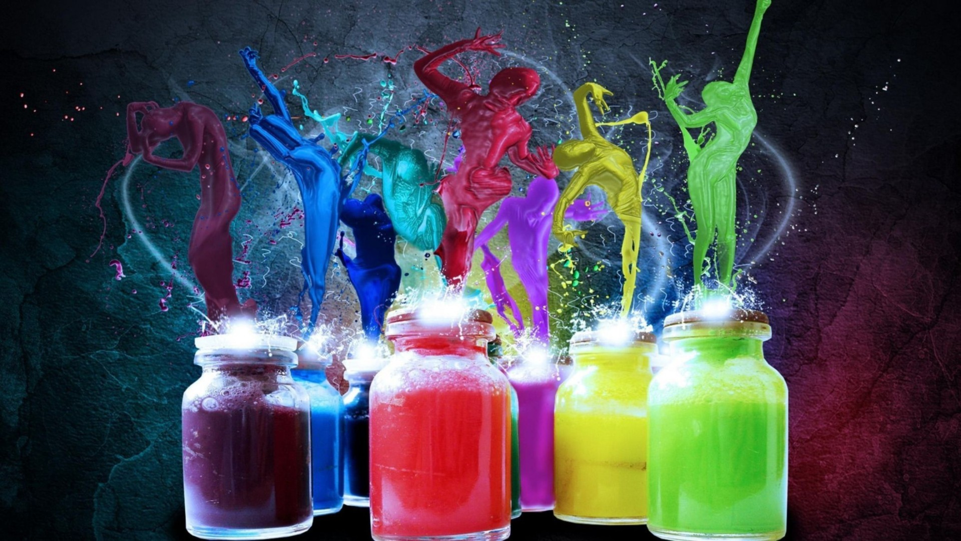 Cool Colorful Art Paint Wallpaper