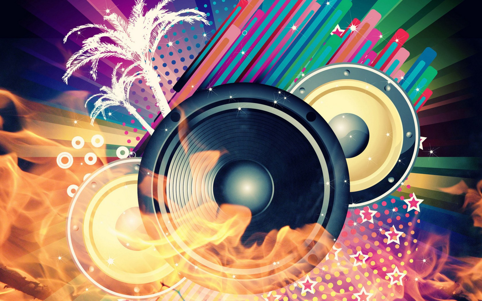 Cool Speaker Abstract Music Wallpaper