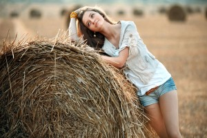 Download Cowgirl in a Hay Field Wallpaper Free Wallpaper on dailyhdwallpaper.com