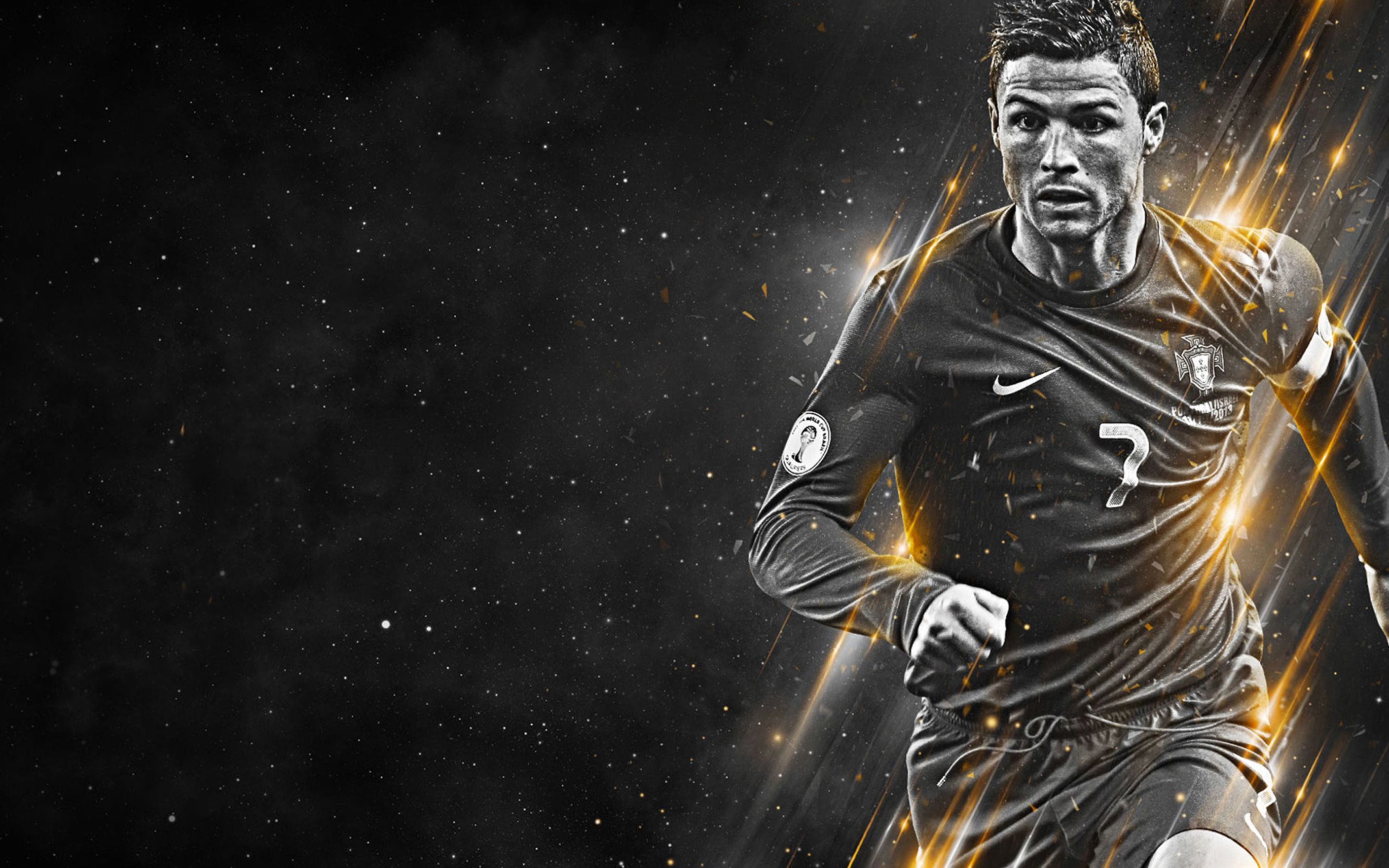 Download free HD Cristiano Ronaldo Football Player Wide Wallpaper, image