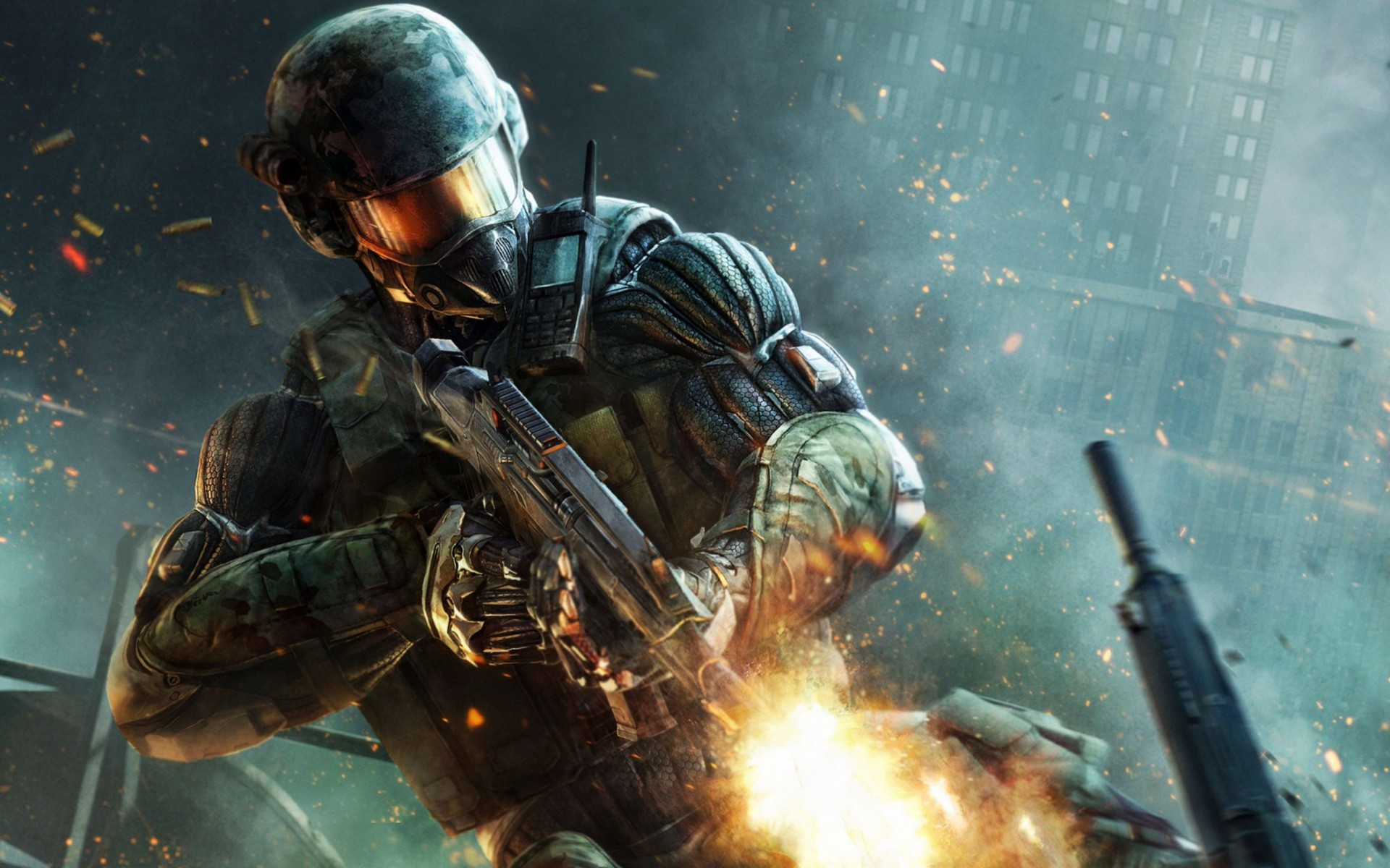 Crysis 2 Weapons Suit Wide Wallpaper
