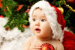 Download Cute Adorable Baby Santa Wide Wallpaper Free Wallpaper on dailyhdwallpaper.com