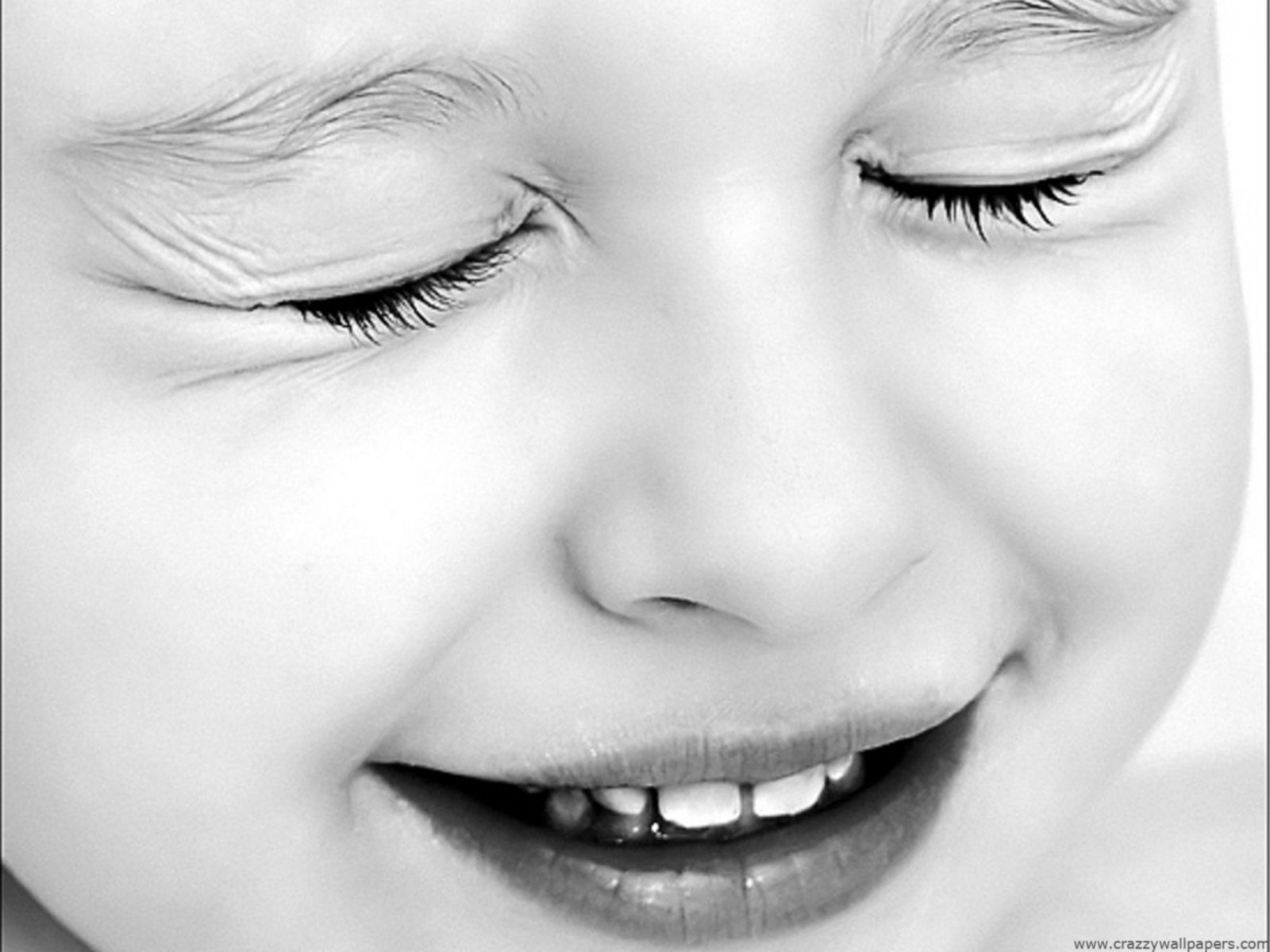 Cute Baby Black And White Normal Wallpaper