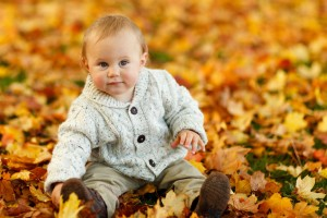 Download Cute Baby Boy Autumn Leaves Wide Wallpaper Free Wallpaper on dailyhdwallpaper.com