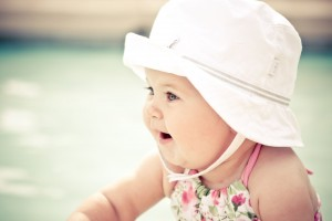 Download Cute Baby With Hat Wide Wallpaper Free Wallpaper on dailyhdwallpaper.com