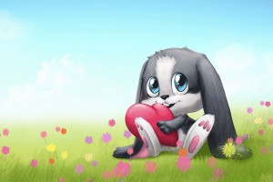 Download Cute Bunny Cartoon HD for Windows 8 Wallpaper Free Wallpaper on dailyhdwallpaper.com