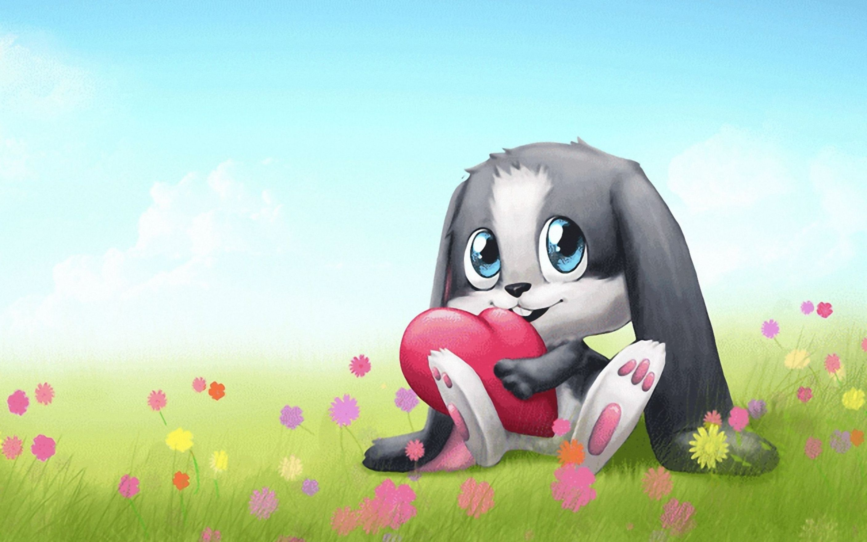 Download free HD Cute Bunny Cartoon HD for Windows 8 Wallpaper, image