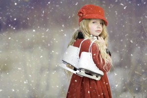 Download Cute Girl Ice Skates HD Wallpaper Free Wallpaper on dailyhdwallpaper.com