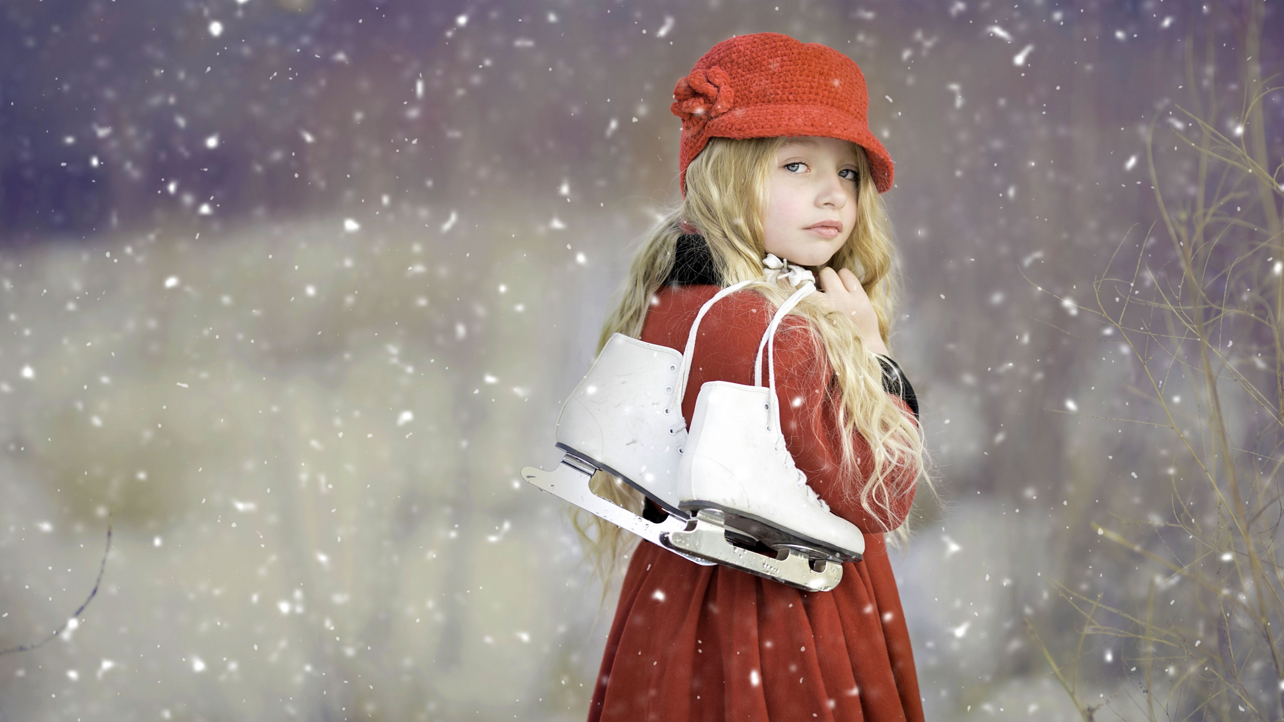 Download free HD Cute Girl Ice Skates HD Wallpaper, image
