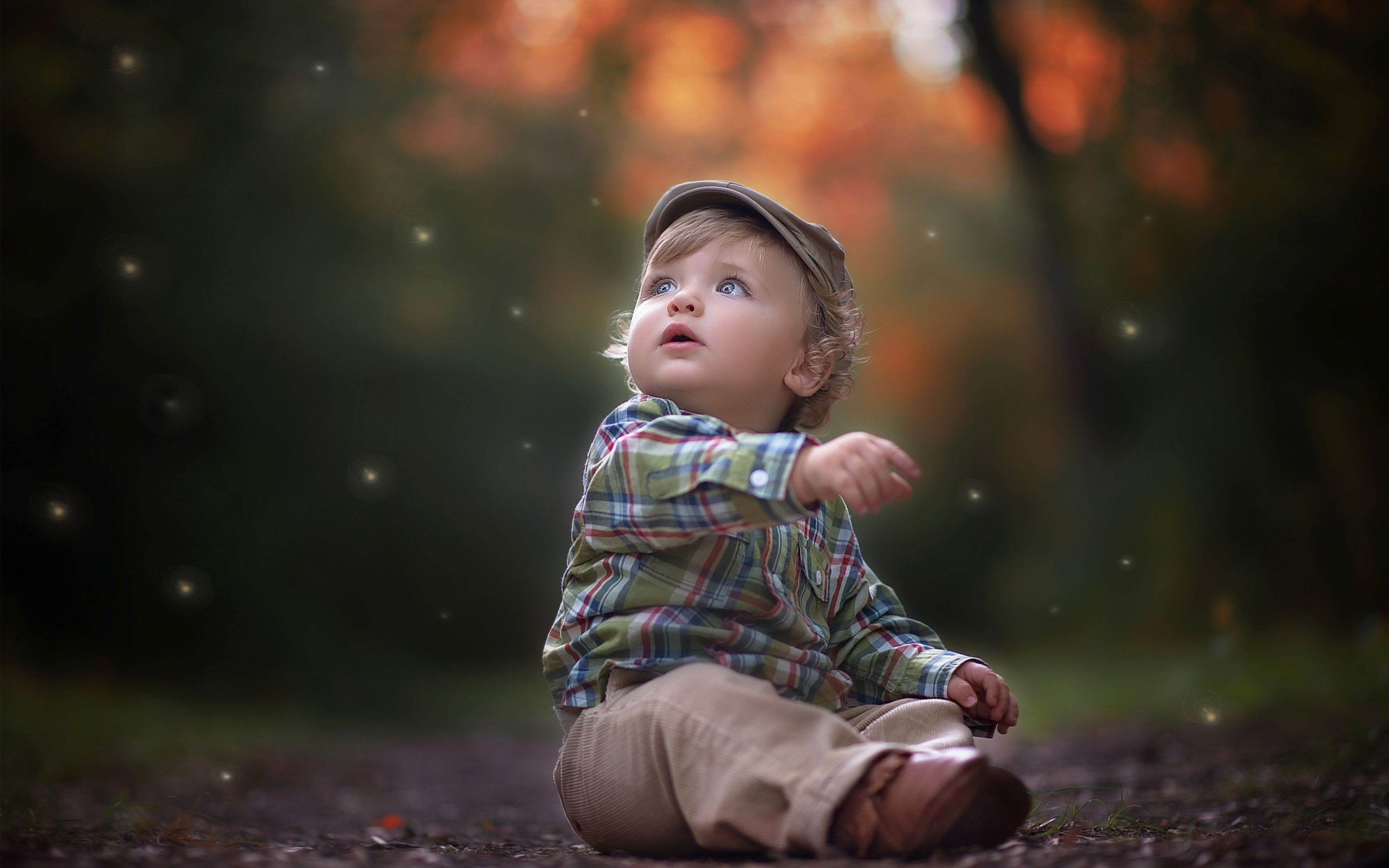 Download free HD Cute Little Boy Wide Wallpaper, image
