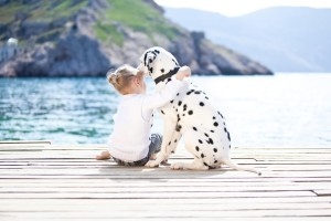 Download Cute Of A Girl And Dalmatian Dog Wallpaper Free Wallpaper on dailyhdwallpaper.com
