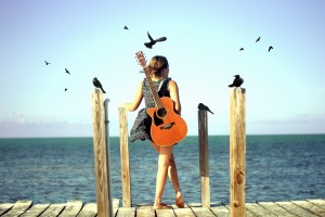 Download Cute Stylish Girls with Guitar Wallpaper Free Wallpaper on dailyhdwallpaper.com
