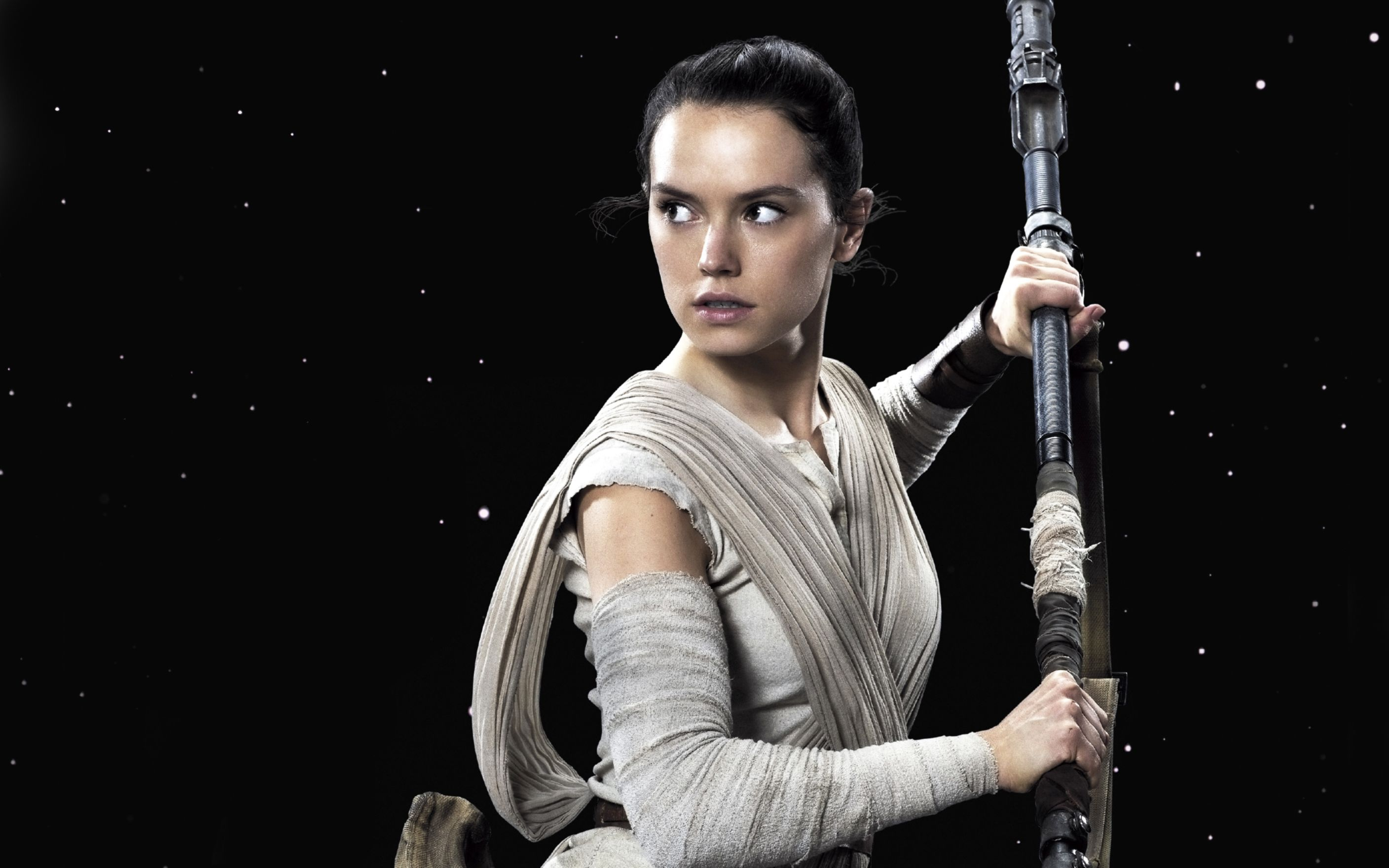 Download free HD Daisy Ridley Rey Star Wars The Force Awakens Wide Wallpaper, image