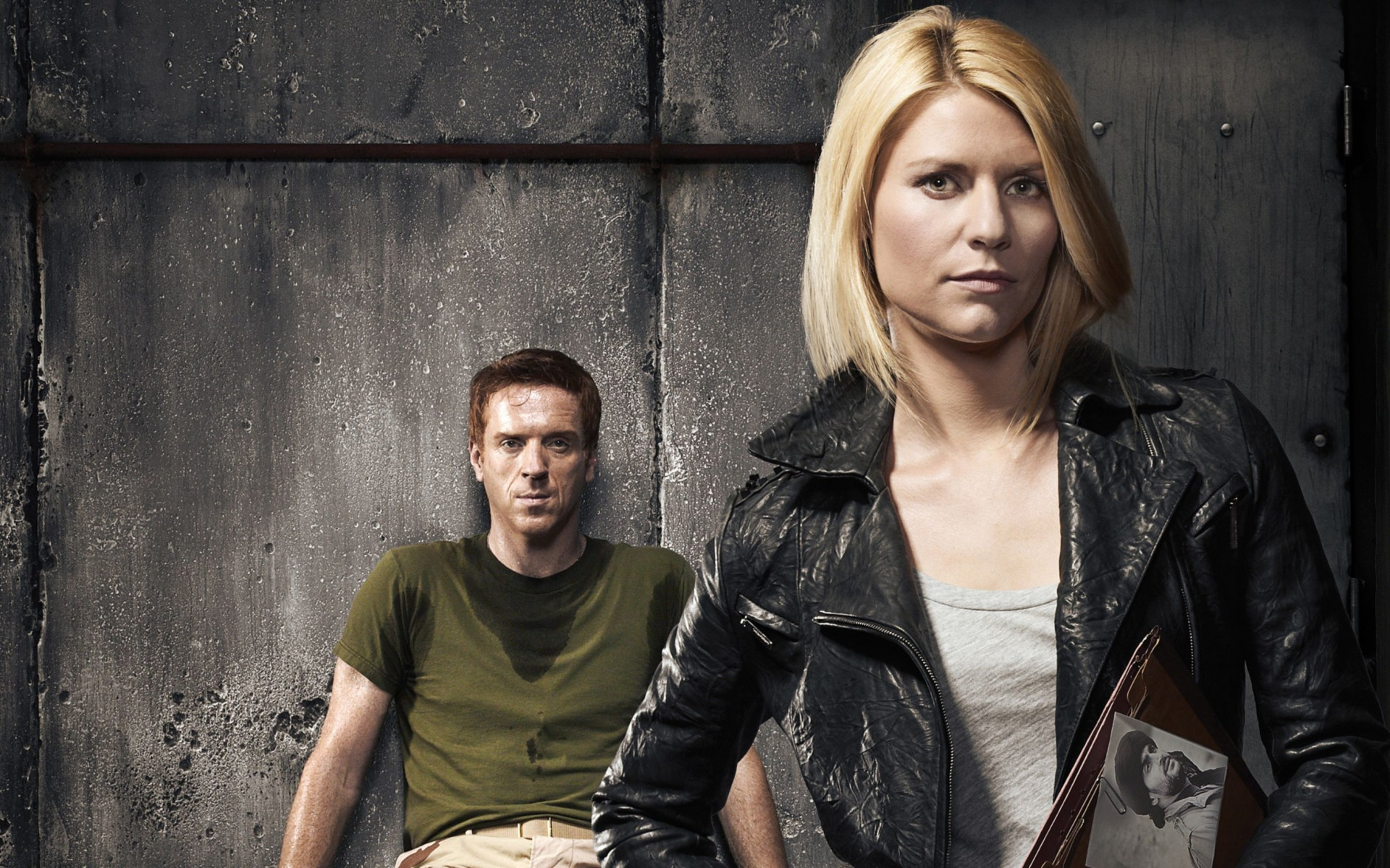 Damian Lewis Claire Danes Homeland Wide Wallpaper